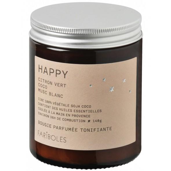 Bougie naturelle - Happy (140 g)