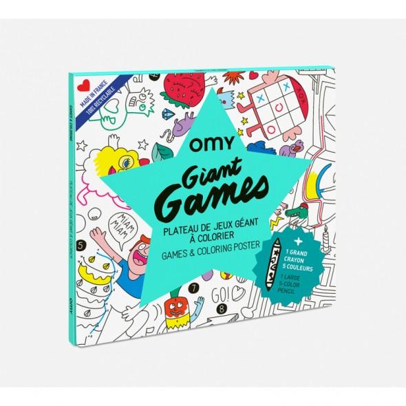 Poster géant à colorier - Giant games