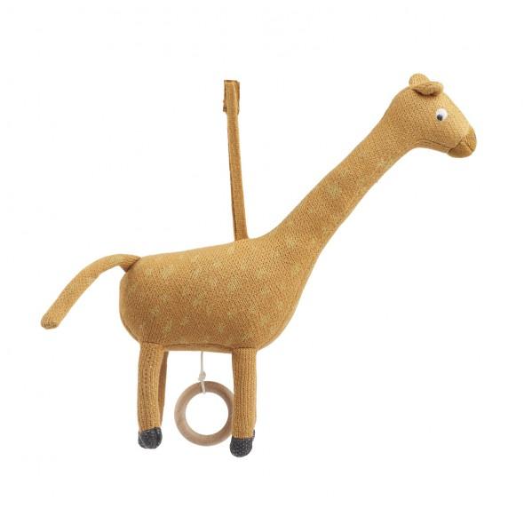 Mobile musical Angela - Girafe (moutarde)