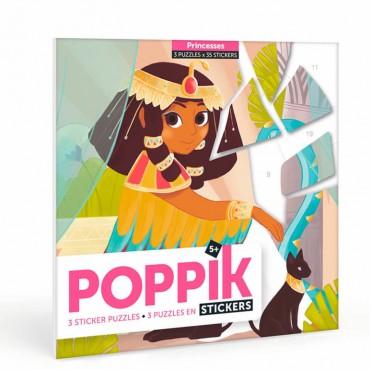 3 puzzles éducatifs avec stickers - Princesses (5-10 ans)
