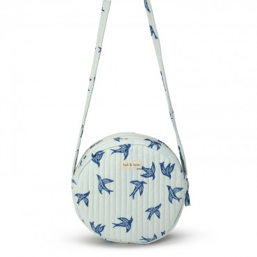 Sac rond bandoulière - Blue bird