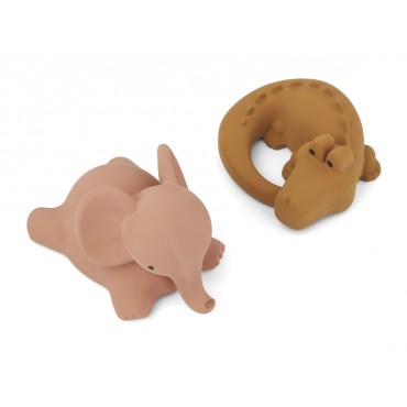 Set de 2 jouets de bain Vikky - Safari (dark rose mix)