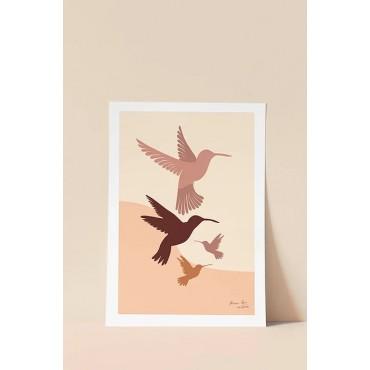Affiche - Les colibris