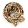 "Grand foulard Latika ""Coeur"" - Vanille"