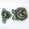 "Grand foulard Latika ""Coeur"" - Eucalyptus"