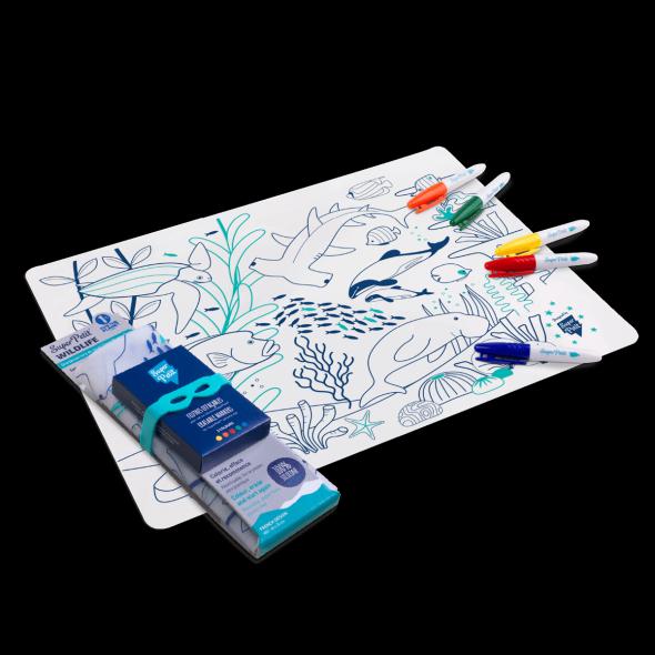 Set de table en silicone - Barrière de corail