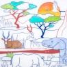 Set de table en silicone - Savane africaine