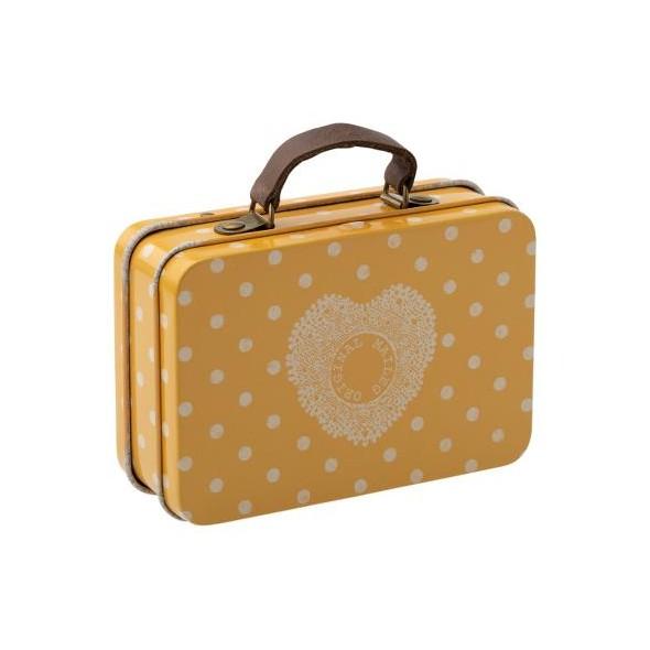 Petite valise en métal - Yellow dot