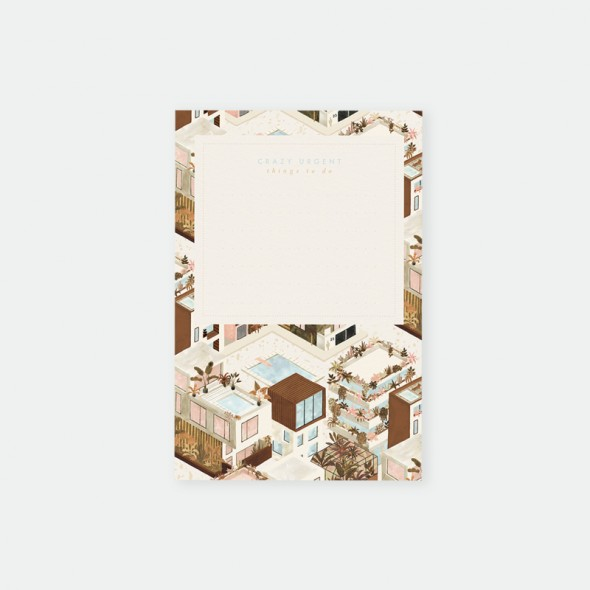 Bloc notes - City terra-cotta