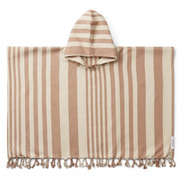 Poncho de plage Roomie - Tuscany rose / sandy