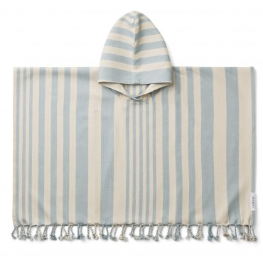 Poncho de plage Roomie - Sea blue / sandy