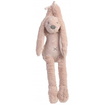 Peluche lapin musicale Richie - Vieux rose