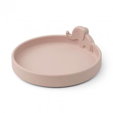 Assiette en silicone Peekaboo - Elphee, rose