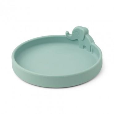 Assiette en silicone Peekaboo - Elphee, bleu