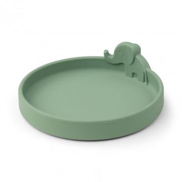Assiette en silicone Peekaboo - Elphee, vert