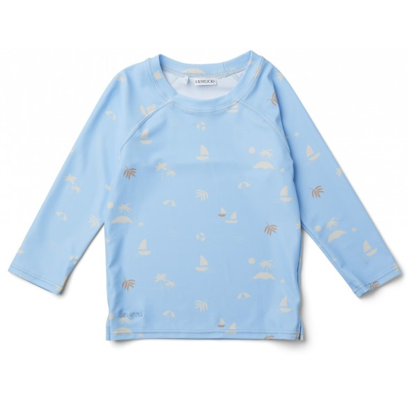 T-shirt de bain anti-UV - Seaside sky blue