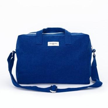 City bag SAUVAL en coton recyclé - Bleu azur