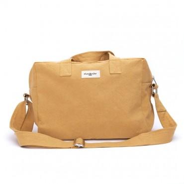 City bag SAUVAL en coton recyclé - Jaune d'ocre