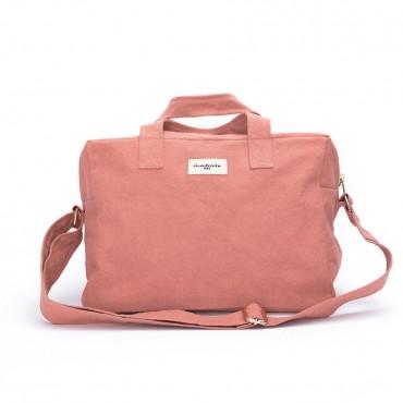 City bag SAUVAL en coton recyclé - Rose provence