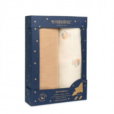 Pack de 2 maxi langes Butterfly - Blossom