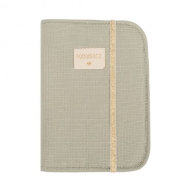 Protège carnet Poema - Honeycomb Laurel green
