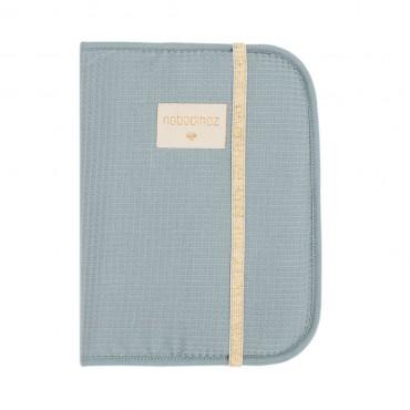 Protège carnet Poema - Honeycomb Stone blue