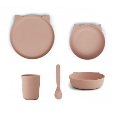 Set de vaisselle Paul - Cat (rose blush)