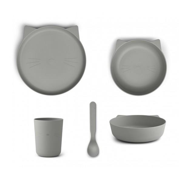Set de vaisselle Paul - Cat (dove blue)