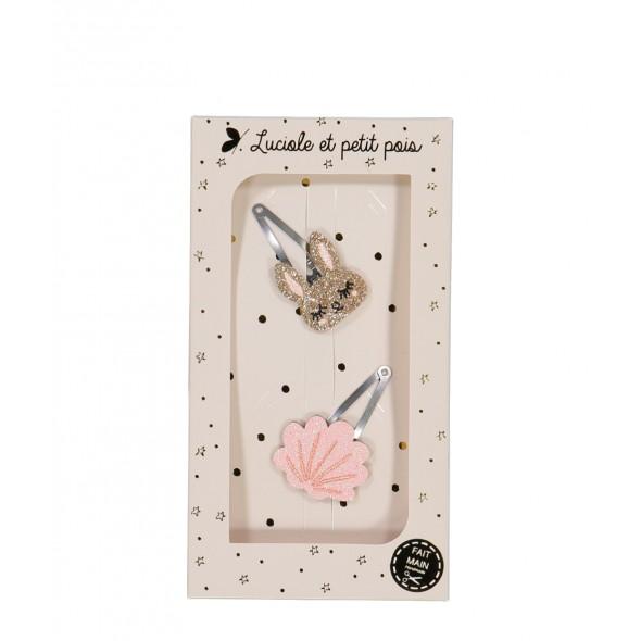 Coffret Les duos - Lapinou et coquillage rose