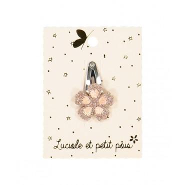 Barrette mini - Fleur rose