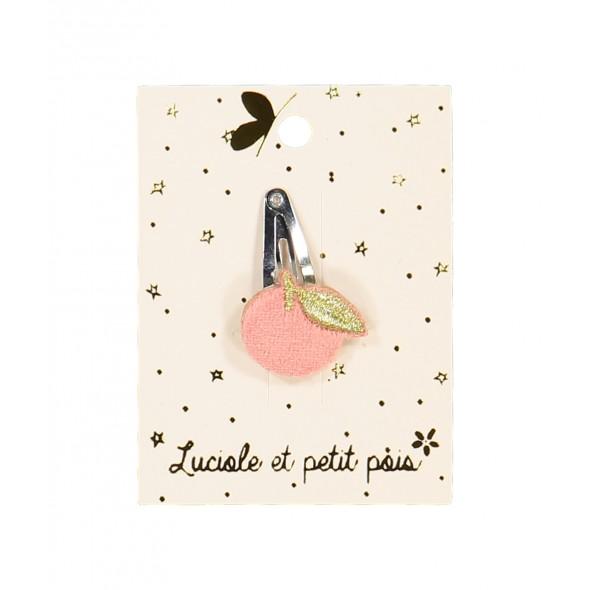 Barrette mini - Pomme rose