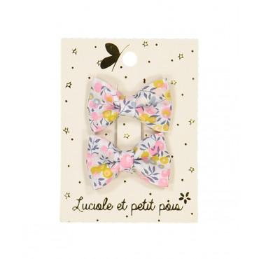 Paire de barrettes mini - Papillons (liberty wiltshire)
