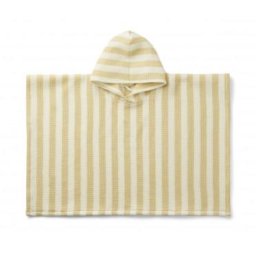 Poncho de plage Paco - Wheat yellow / crème