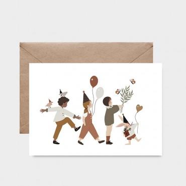 Carte postale - C'est la fête