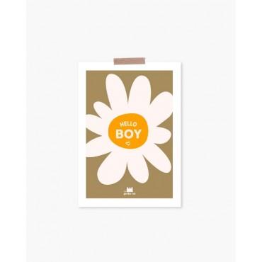 Carte postale - Hello boy