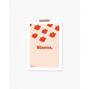 Carte postale - Bisous