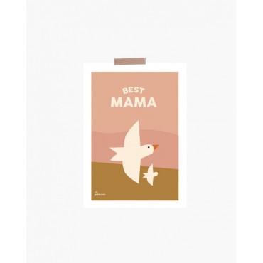 Carte postale - Best mama