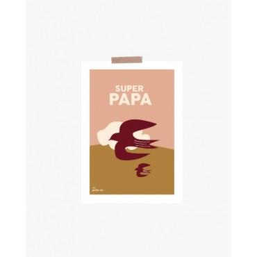 Carte postale - Super papa