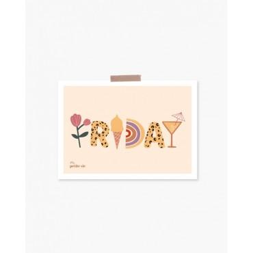 Carte postale - Friday