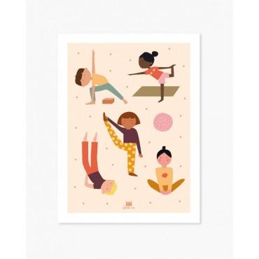 Affiche pédagogique - Les petits yogis