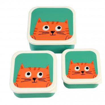 Set de 3 boites à goûter - Chester the cat