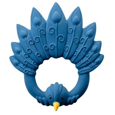 Anneau de dentition - Paon bleu