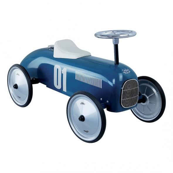 Porteur voiture vintage - Bleu pétrole
