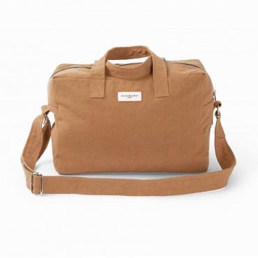 City bag SAUVAL en coton recyclé - Tobacco