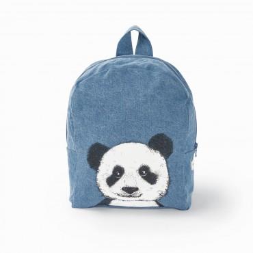 Sac à dos Hardy en coton recyclé - Panda