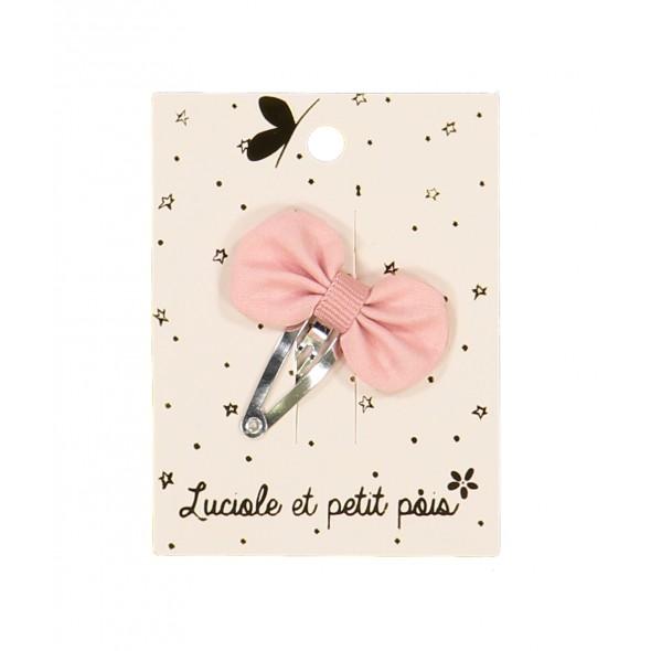 Barrette mini - Pétale (vieux rose)