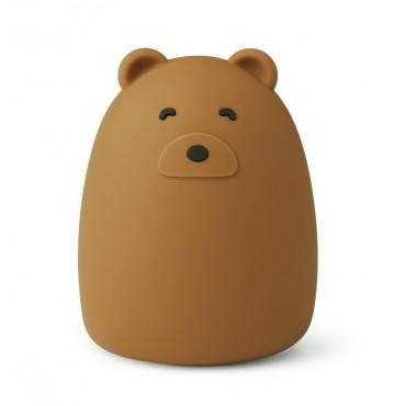 Veilleuse en silicone Winston - Mr Bear (golden caramel)