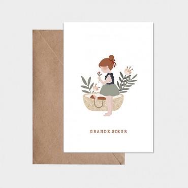 Carte postale - Grande soeur