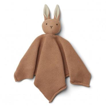 Doudou tricoté Milo - Rabbit / Tuscany rose