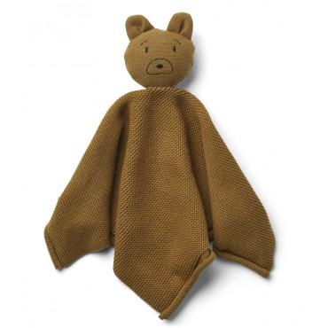 Doudou tricoté Milo - Bear / Golden caramel